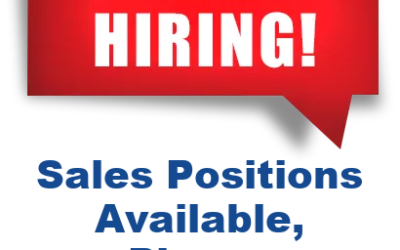 We Are Hiring, Sales Positions