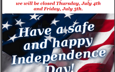 Happy Fourth Of July Closed July 4th & 5th