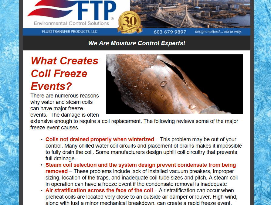 What Creates A Coil Freeze Event?