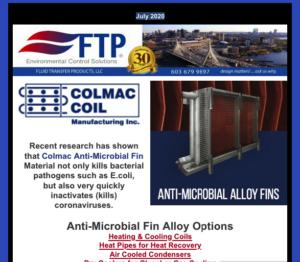 Colmac Coil's Anti-Microbial Fin Material Kills Coronavirus